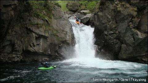 Kayakers in Piedmonte, Italy