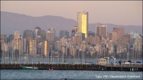 View of Vancouver in sunset