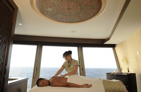 luxury spa on cruise