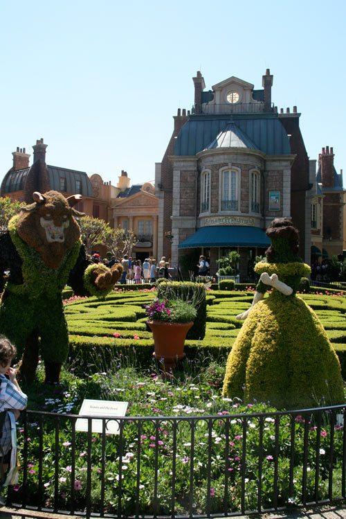 Epcot® International Flower & Garden Festival at DisneyWorld, HGTV flower & garden festival, DisneyWorld Special Events, Epcot flowers, Beauty & Beast