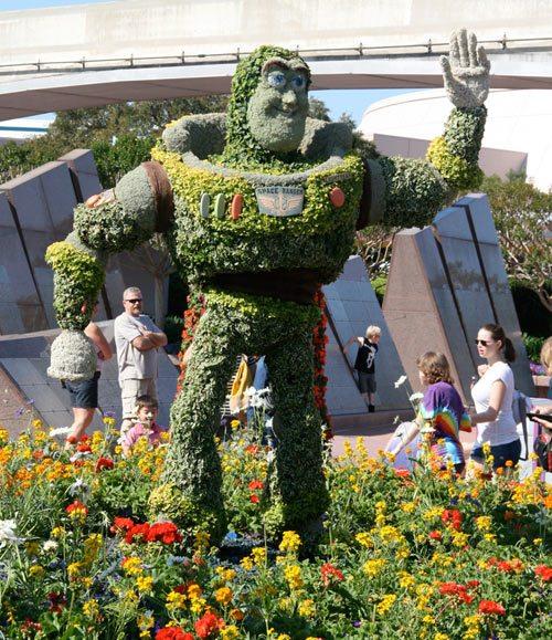 Buzz Lightyear flowers, topiary, garden & flower fest