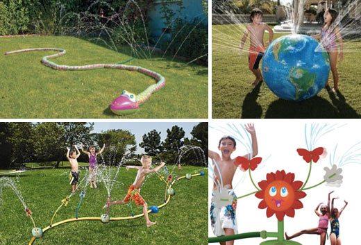 kids sprinklers, backyard fun