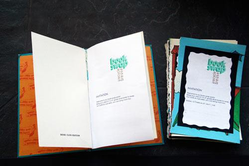 book swap party upcycled invitations skimbaco lifestyle online