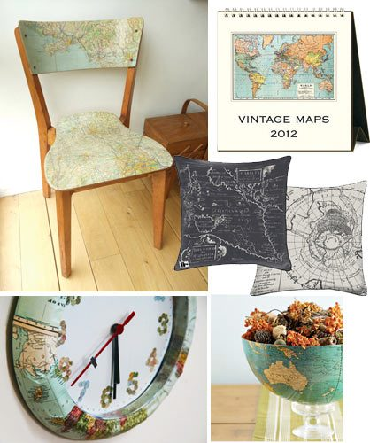 Decorate With Maps Ideas How Skimbaco Lifestyle Online Magazine