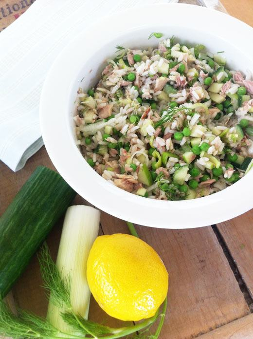 Finnish Tuna Salad photo, no mayonnaise tuna salad, healthy tuna salad