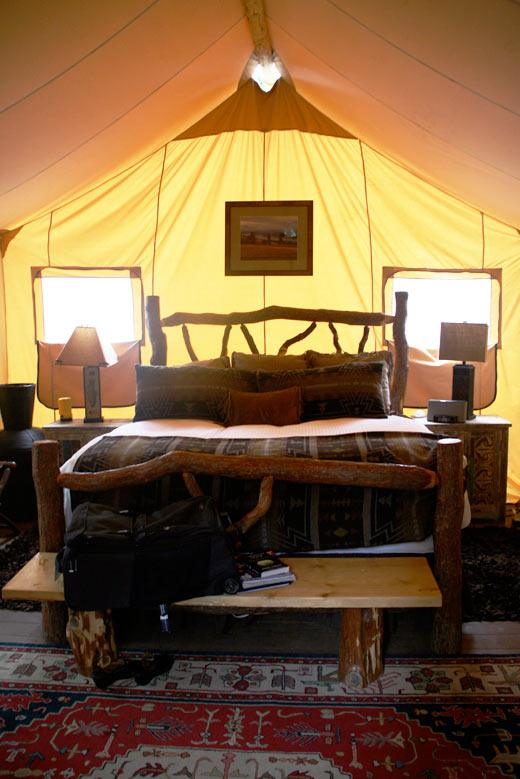 glamping, luxury tent, Paws Up, Montana