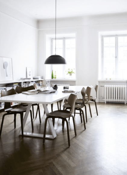 modern white dining table with wooden chairs. In Search of the Perfect Modern White Dining Table   Skimbaco