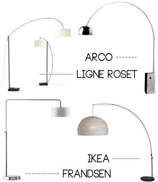 modern light fictures, ball lamp, arco lamp