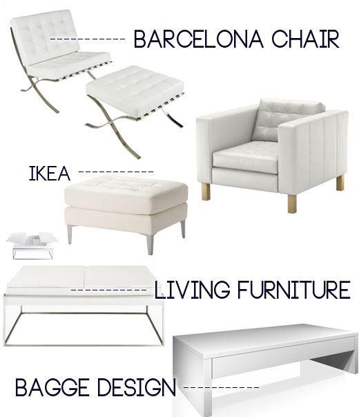 barcelona arm chair, white arm chairs