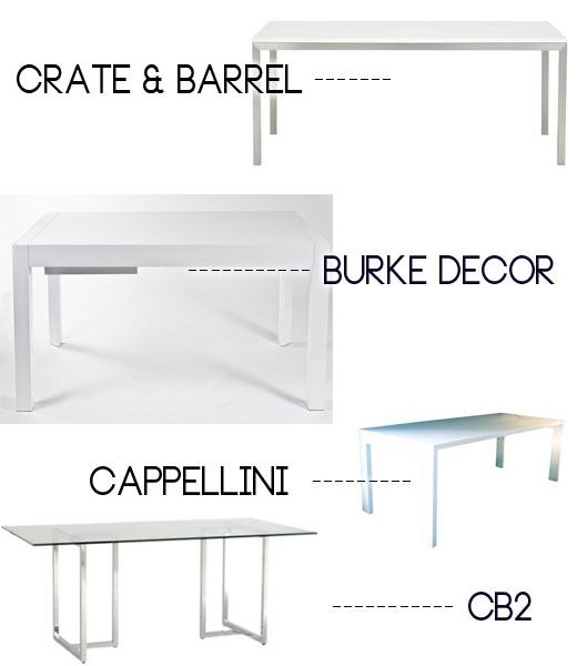modern white dining table, scandinavian design in the US
