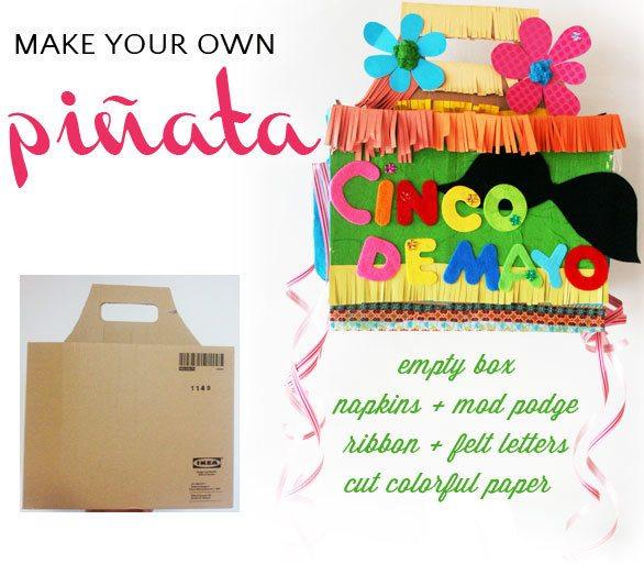 DIY piñata instructions for Cinco de Mayo party