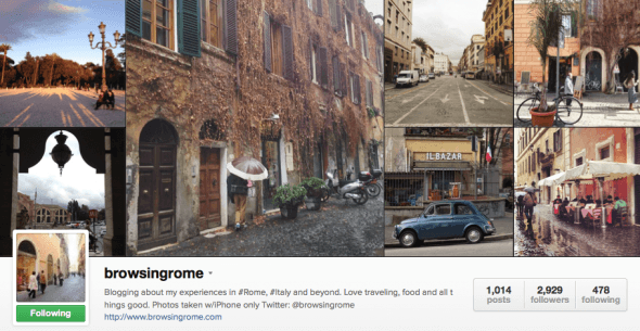 Featured Instagrammer in Italy: @browsingrome