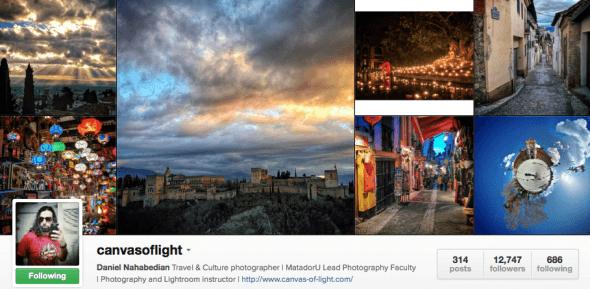Featured Instagrammer in Spain: @canvasoflight