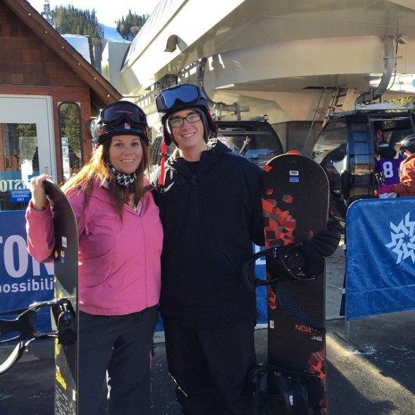 first time snowboarding by http://instagram.com/desmiller