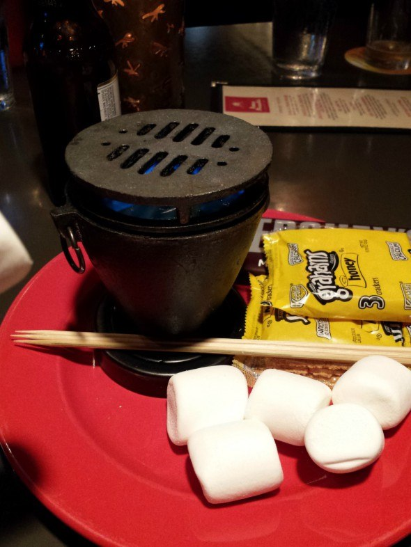 Tableside S'mores at Amos  Mosquito's at Atlantic Beach