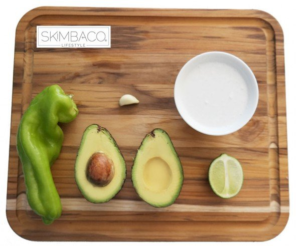 Avocado dipping sauce recipe with coconut milk from @skimbaco