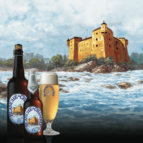 """In the spring of 1992, Unibroue introduced the first bottle-refermented white ale crafted in North America! Taking inspiration from Quebec history, Unibroue created Blanche de Chambly in honor of the volunteer militiamen who fought and died under Captain De Salaberry a French Canadian officer and nobleman in the British army to defend Lower Canada against invasion in 1812. Blanche de Chambly is the very first ale brewed by Unibroue and as Belgian tradition dictates for white ales, it is named after the city in which it is brewed. In 1996, the Chicago Beverage Testing institute declared Blanche de Chambly """"The World's Best White Ale."""" Since then, it has gone on to win numerous other awards and distinctions."""