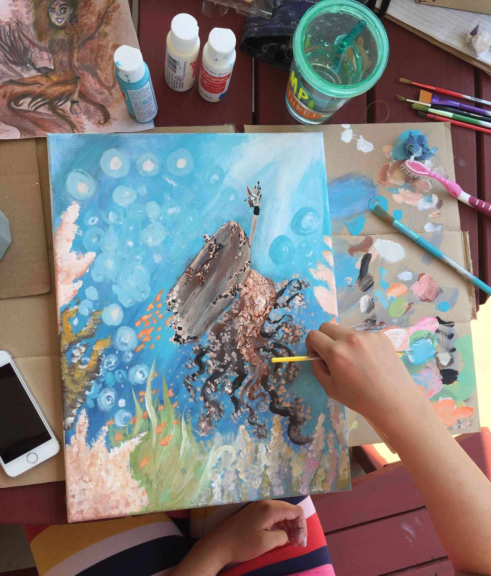 Gaby painting