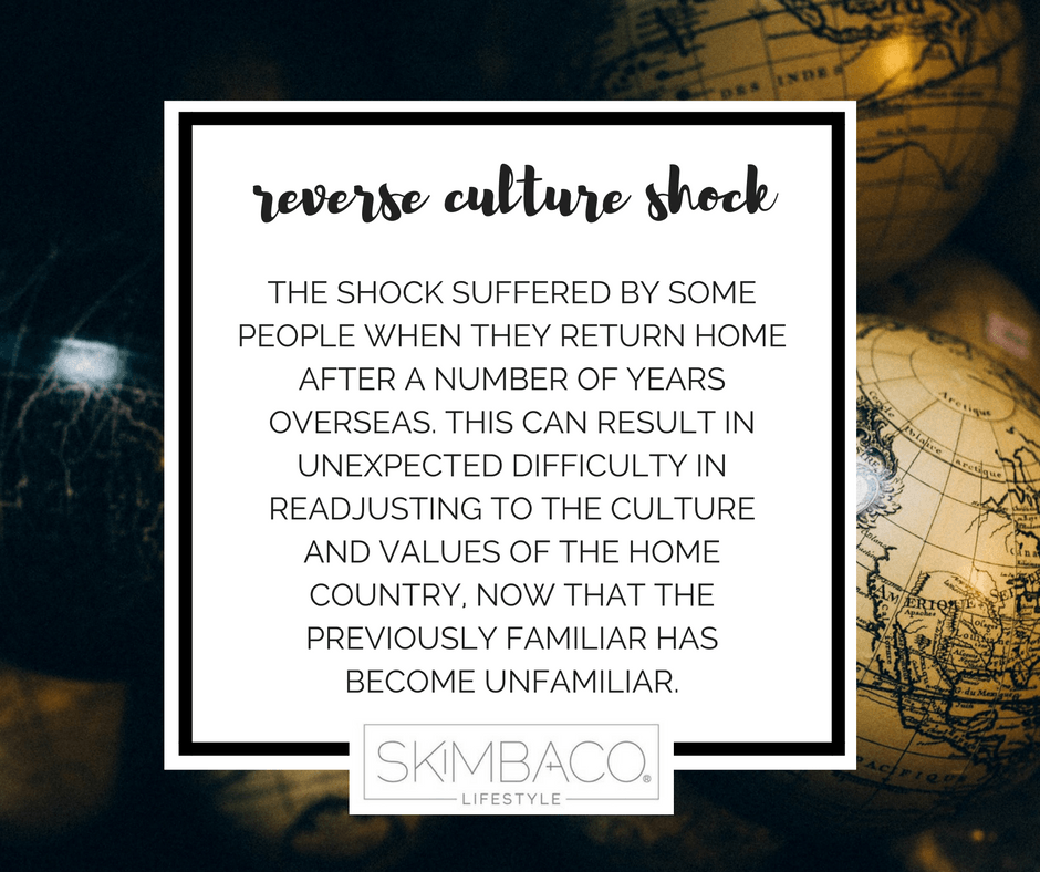 Definition of reverse culture shock